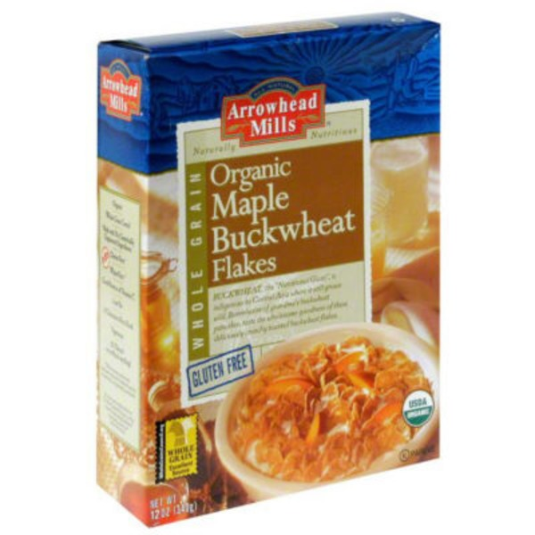 Arrowhead Mills Organic Maple Buckwheat Flakes Gluten Free