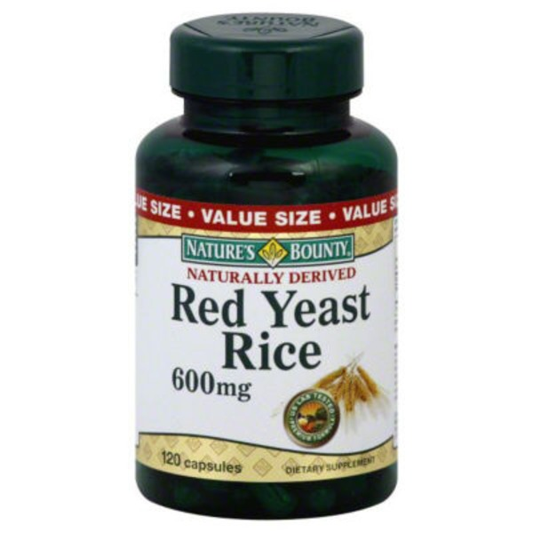 Nature's Bounty Red Yeast Rice 600MG - 120 CT