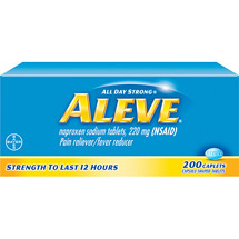 Aleve Naproxen Sodium Caplets 220 Mg (Nsaid) Pain Reliever/Fever Reducer - 200 Ct