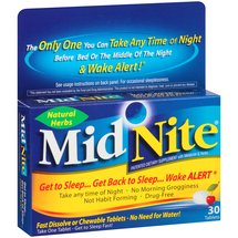 MidNite Sleep Aid Herbal Supplement Tablets