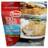 Tyson   Frozen Breaded Bagged Chicken Breast Fillets