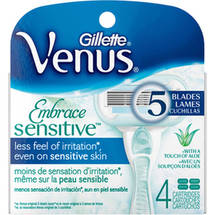 Gillette Venus Embrace Sensitive Razor Cartridge Refills
