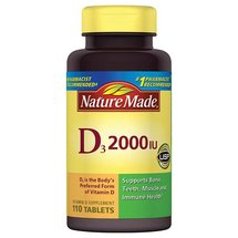 Nature Made Vitamin D3 Dietary Supplement Tablets 2000 I.U.