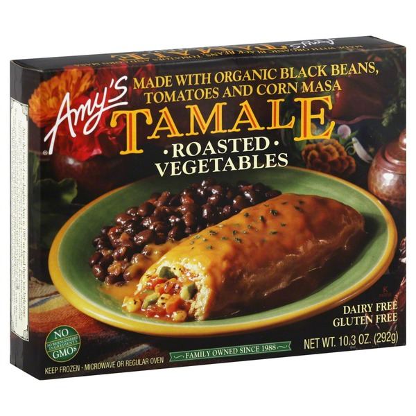 Amy's Roasted Vegetable Tamale