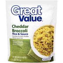 Great Value Cheddar Broccoli Rice & Sauce