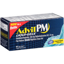 Advil PM Liqui-Gels Ibuprofen Pain Reliever (NSAID)/Nighttime Sleep-Aid Liquid Filled Capsules