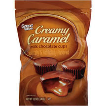 Great Value Creamy Caramel Milk Chocolate Cups