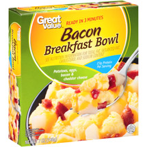 Great Value Bacon Breakfast Bowl