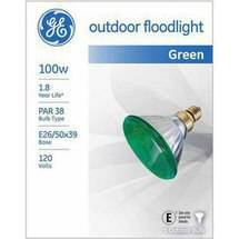 GE outdoor floodlight 85 watt green PAR38 1-pack