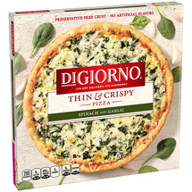 DiGiorno Thin & Crispy Spinach and Garlic Pizza