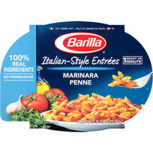Barilla Mezze Penne Pasta with Traditional Marinara Sauce