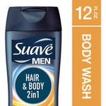 Suave Men Hair and Body Body Wash and Shampoo 2 in 1