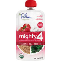 Plum Organics Mighty 4 Kale Strawberry Amaranth Greek Yogurt Essential Nutrition Blend Snack