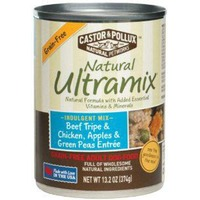 Natural Ultramix Dog Food, Adult, Grain-Free, Beef Tripe & Chicken, Apples & Green Peas Entree
