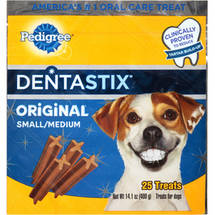 Pedigree Dentastix Original Flavor Daily Oral Care Treats for Small/Medium Dogs