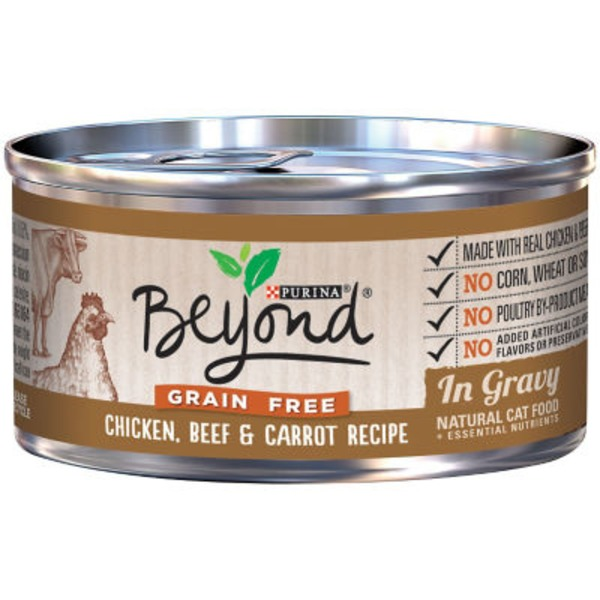 Purina Beyond Cat Wet Grain Free Chicken Beef & Carrot Recipe in Gravy Cat Food