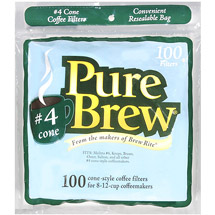 Pure Brew #4 Cone Coffee Filters