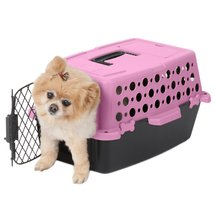 Pet Champion Pet Crate 2'1W x 2'7D x 10H Pink/Black