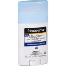 Neutrogena Ultra Sheer Face & Body Stick Sunscreen SPF 70