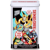 Transformers Sterile Adhesive Bandages Plus 2 Bonus Tattoos