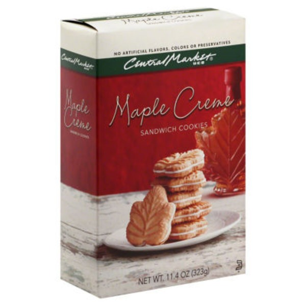 Central Market Maple Creme Sandwich Cookies