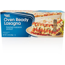 Great Value Oven Ready Lasagna Pasta Enriched Macaroni Product