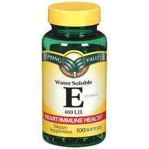 Spring Valley Vitamin E 400 I.U. Water Soluble Softgels Dietary Supplement