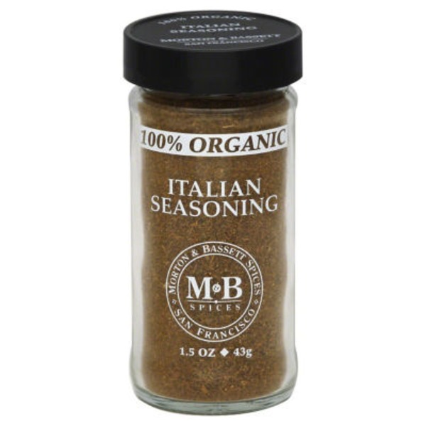 Morton & Bassett Spices Italian Seasoning, 100% Organic