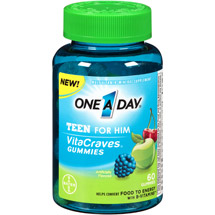 One A Day VitaCraves Teen for Him Multivitamin/Mineral Supplement Gummies