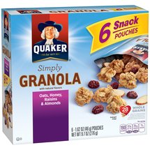 Quaker Simply Granola Oats Honey Raisins & Almonds Granola