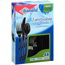Diamond Entertaining Premium Strength Dinnerware Assortment Black