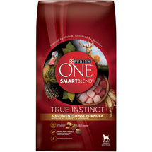 Purina ONE SmartBlend Dry Premium Dog Food True Instinct with Real Turkey and Venison