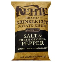 Kettle Brand® Krinkle Cut Salt & Fresh Ground Pepper Potato Chips