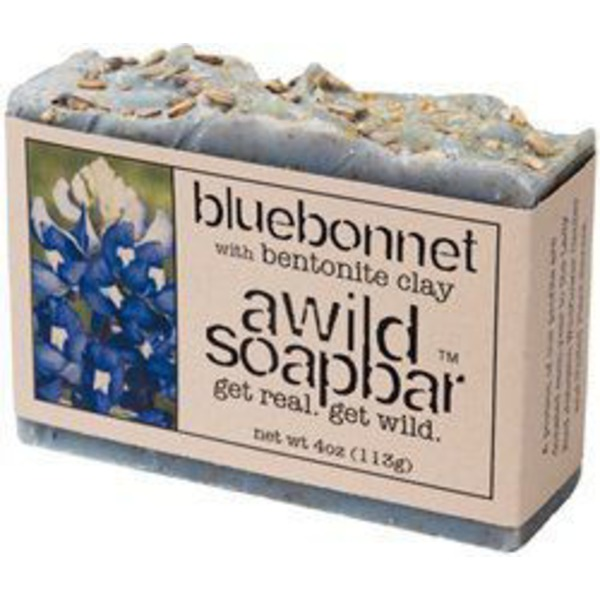 A Wild Soap Bar Bluebonnet Bentonite Clay Bar Soap