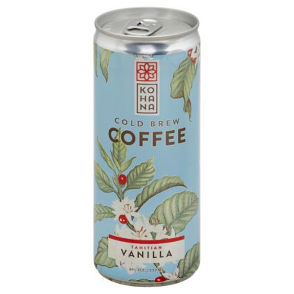 Kohana Coffee Cold Brew Coffee Tahitian Vanilla