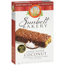 Sunbelt Bakery Fudge Dipped Coconut Chewy Granola Bars