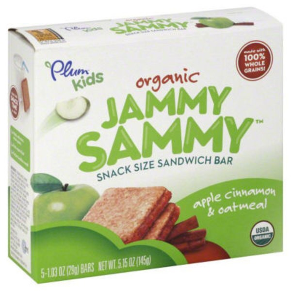 Plum Organics Jammy Sammy Apple Cinnamon & Oatmeal Sandwich Bar