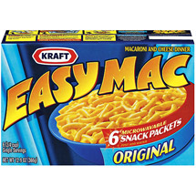 Kraft Original Microwavable Snack Packets Easy Mac Macaroni & Cheese