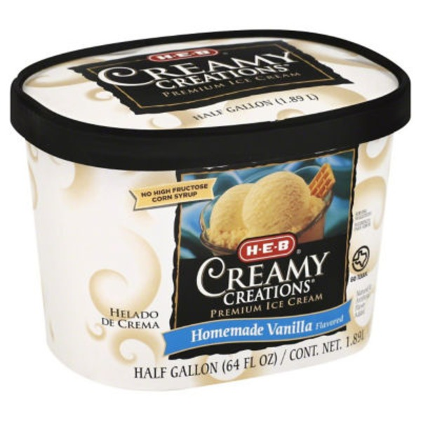 H-E-B Creamy Creations Homemade Vanilla Ice Cream