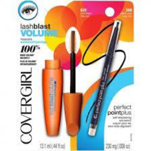 CoverGirl Mixed COVERGIRL Lash Blast Volume Mascara Very Black and Perfect Point Plus Eyeliner Black Onyx Special Pack .448 Oz Female Cosmetics