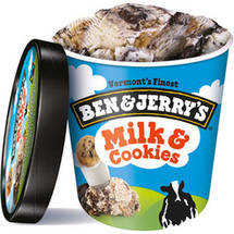 Ben & Jerry's All Natural Milk & Cookies Ice Cream