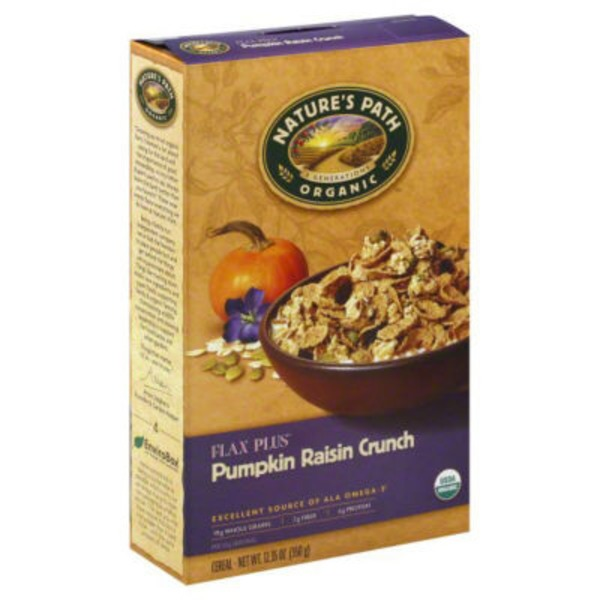 Nature's Path Organic Flax Plus Cereal Pumpkin Raisin Crunch