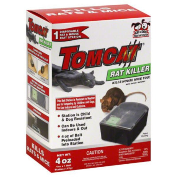 TOMCAT Disposable Rat and Mouse Bait Station