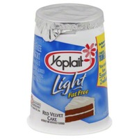 Yoplait Light Red Velvet Cupcake Fat Free Yogurt