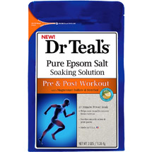 Dr.Teal's Pre & Post Workout Pure Epsom Salt Soaking Solution