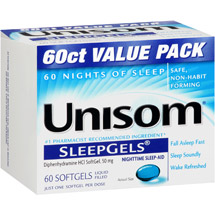 Unisom Nighttime Sleep-Aid Liquid Filled Softgels