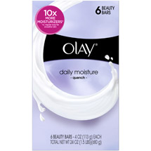 Olay Daily Moisture Quench Beauty Bar Soap 4 Oz 6 Bath Bars