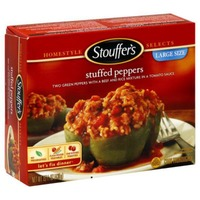 Stouffer's Satisfying Servings Green bell peppers hand-filled with beef & rice in a zesty tomato sauce Stuffed Peppers