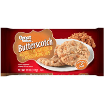 Great Value Butterscotch Flavored Baking Chips