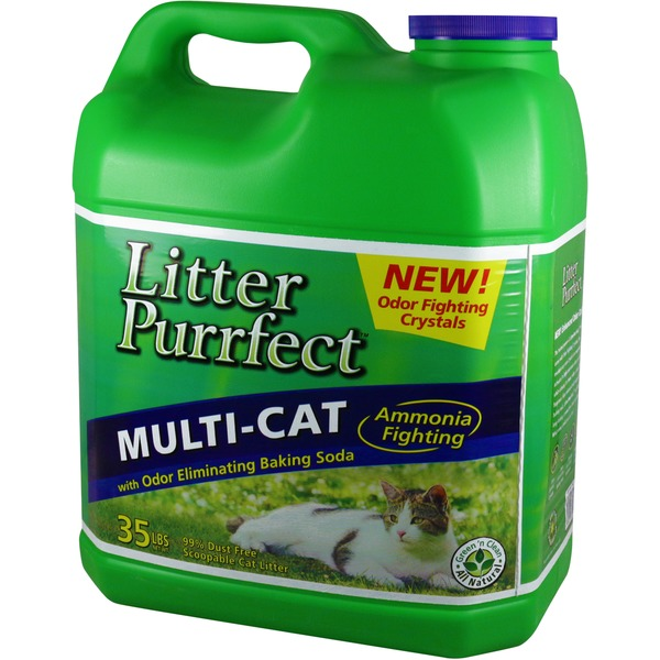 Litter Purrfect Scoopable 100% Natural Cat Litter Lemon Grass Scent